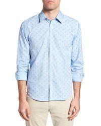 Jeremy Argyle Nyc - Blue Slim Fit Lobster Print Sport Shirt for Men - Lyst