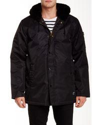 Obey | Black Winston Faux Fur Trimmed Jacket for Men | Lyst