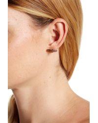 Argento Vivo | Metallic 18k Gold Plated Sterling Silver Labradorite Earrings | Lyst