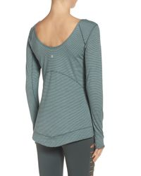 Zella - Gray Layer Me Pullover - Lyst