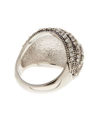 Ariella Collection - Metallic Dimensional Crystal Pave Ring - Lyst