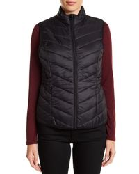 Joe Fresh | Black Quilted Vest | Lyst