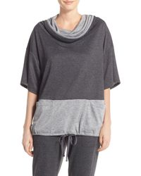 Midnight By Carole Hochman | Gray Cowl Neck Top | Lyst