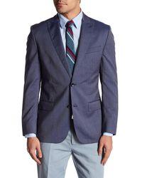 Bonobos | Blue Foundation Navy Micro-striped Two Button Peak Lapel Wool Slim Fit Jacket for Men | Lyst