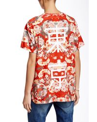 ELEVEN PARIS | Red Floral Tee | Lyst