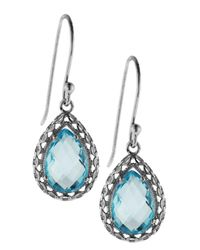 Liberty - Sterling Silver Sky Blue Topaz Earrings - Lyst