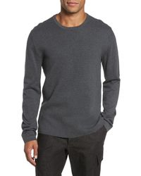 French Connection - Gray Milano Front Regular Fit Cotton Sweater for Men - Lyst