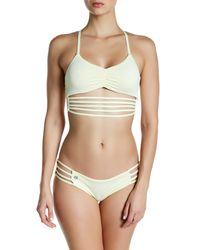 Maaji | Yellow Banana Roads Strappy Reversible Bikini Top | Lyst