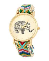 Olivia Pratt | Metallic Women's Braided Elephant Quartz Watch | Lyst