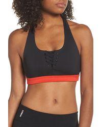56a29bff38df1 Lyst - Zella Lace It Up Sports Bra in Black