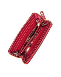 Vera Bradley - Red Quilted Georgia Wallet - Lyst