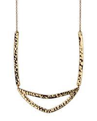 Gorjana - Metallic 18k Gold Plated Amanda Cut-out Necklace - Lyst