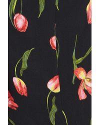 Lush - Black Cutout Tie Front Maxi Dress - Lyst