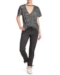 Pam & Gela - Black Raw Edge Step Hem Crop Pants - Lyst