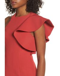 C/meo Collective Red Infinite Asymmetrical Dress