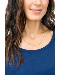 Gorjana - Metallic Anthea Leaf Collar Necklace - Lyst