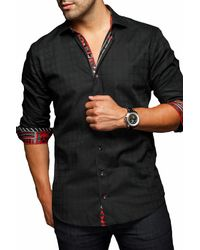 Au Noir - Black Volare Slim Modern Fit Shirt for Men - Lyst