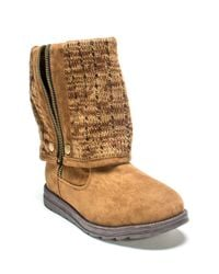 Muk Luks | Brown Demi Fold-over Boot | Lyst