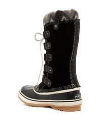 Sorel - Black Joan Of Arctic Knit Ii Waterproof Boot (women) - Lyst
