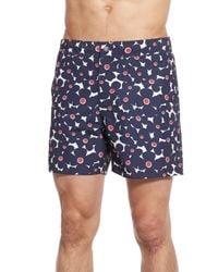 Bonobos - Blue 'fresno Floral' Board Shorts for Men - Lyst