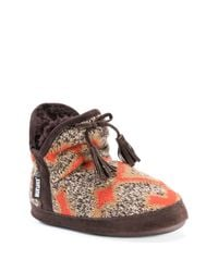 Muk Luks - Brown Pennley Faux Fur Lined Slipper - Lyst