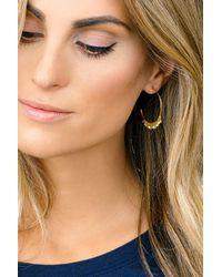 Gorjana - Metallic Chloe Mini Fringe Hoop Earrings - Lyst