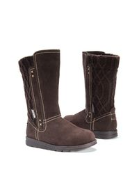 Muk Luks - Brown Stacy Faux Fur Lined Mixed Media Boot - Lyst