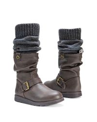 Muk Luks - Brown Sky Knit Cuff Faux Fur Lined Boot for Men - Lyst