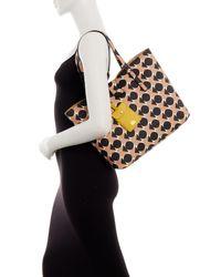Orla Kiely | Multicolor Spot Square Triangle Print Vinyl Tillie Work Bag | Lyst