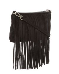 Sorial | Black Carli Fringed Leather Crossbody | Lyst
