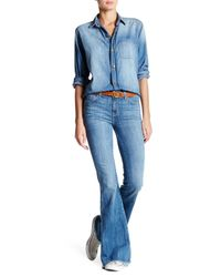 Current/Elliott | Blue The High Rise Low Bell Bottom Jean | Lyst