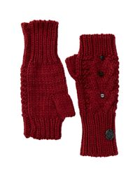 Vince Camuto | Red Studded Arm Warmer Fingerless Gloves | Lyst