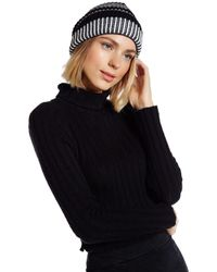 Vince Camuto | Black Variegated Cuffed Beanie | Lyst