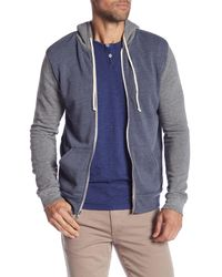 Alternative Apparel - Blue Colorblock Rocky Hoodie for Men - Lyst