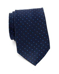 Tommy Hilfiger - Blue Contrast Dot Xl Silk Tie for Men - Lyst