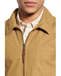Billy Reid - Natural Wills Trim Fit Canvas Jacket for Men - Lyst