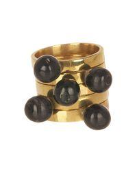 Soko - Metallic Sawa Nestling Round Horn Top Ring Set - Lyst