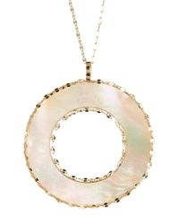 Lana Jewelry - White 14k Gold Cielo Pendant Necklace - Lyst