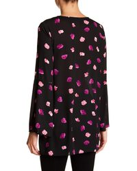 Cece by Cynthia Steffe - Black Beautiful Petals Bell Sleeve Blouse - Lyst