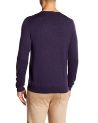 Calvin Klein - Purple V-neck Wool Sweater for Men - Lyst