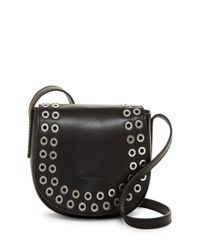 Frye - Black Cassidy Leather Saddle Crossbody - Lyst