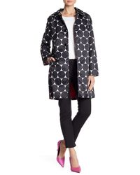 Kate Spade - Black Dot Printed Trench Coat - Lyst