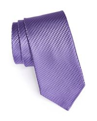 John W. Nordstrom - Purple Woven Silk Tie for Men - Lyst