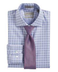 John W. Nordstrom - Blue Geometric Silk Tie for Men - Lyst