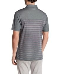 Travis Mathew - Gray Cutback Striped Polo Shirt for Men - Lyst