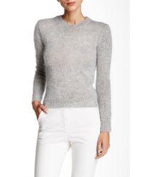 agnès b. | Gray Long Sleeve Pullover Sweater | Lyst