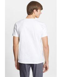 Etro - White Embroidered Print T-shirt for Men - Lyst
