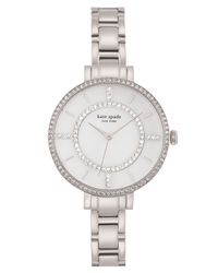 Kate Spade | Metallic Women's Gramercy Crystal Bezel Bracelet Watch | Lyst