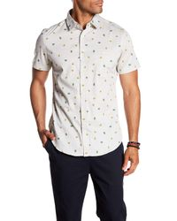 Sovereign Code - White Pismo Patterned Short Sleeve Regular Fit Shirt for Men - Lyst
