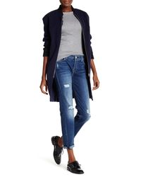 7 For All Mankind - Blue The Josefina Destroyed Boyfriend Jean - Lyst